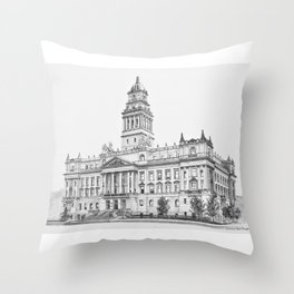 Wayne County Court House | Detroit Michigan Throw Pillow