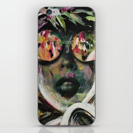wild one mixed media, collage, vintage photography, bold, bright, beautiful iPhone Skin