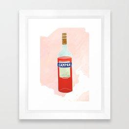 I Love Campari - Liquor Bottle Bar Print Framed Art Print