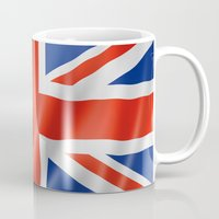 british flag Mugs featuring UK / British waving flag by GoodGoods