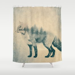 Fox and Forest - Shrinking Forest Shower Curtain