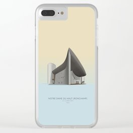 Ronchamp Chapel Le Corbusier Clear iPhone Case