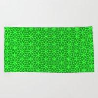 Greenery Kaleidoscope 8075 Beach Towel