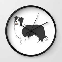 Border Collie Wall Clock