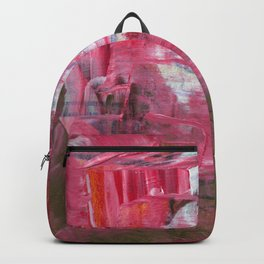 Pink on Top Abstract Modern Fine Art Backpack