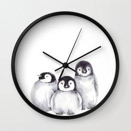 Baby Penguins Wall Clock