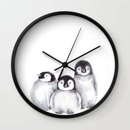 Baby Penguins Wall Clock