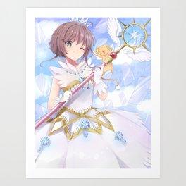 Sakura Kinomoto & Kerberos Art Print