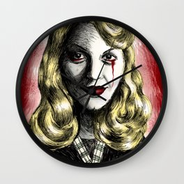 Sylvia Plath_Blood Red Wall Clock