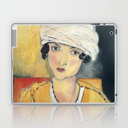 Vintage poster-Henri Matisse-Lorette with turban and yellow vest. Laptop & iPad Skin