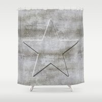 solid Shower Curtains featuring Solid Star by LebensART