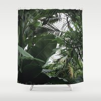 plants Shower Curtains featuring Plants by Cynthia del Rio