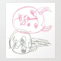 evil Art Prints featuring EVIL by youreahurricane