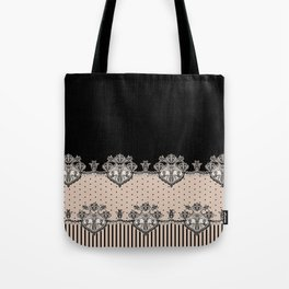 Dakota Black Lace Tote Bag