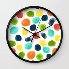 Cobblestone Watercolor Abstract Wall Clock