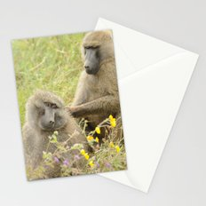 Grooming baboons Stationery Cards