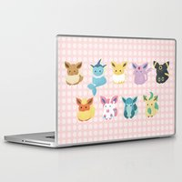 umbreon Laptop & iPad Skins featuring Eevee Evolutions by Nozubozu