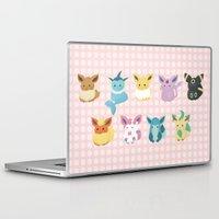 sylveon Laptop & iPad Skins featuring Eevee Evolutions by Nozubozu