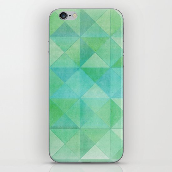 Green/Blue : Pattern iPhone & iPod Skin