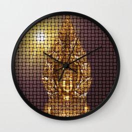 golden buddha modern abstract pattern Wall Clock
