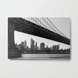 Manhattan Bridge, New York City, Hudson river, New York skyline (2020-6-GNY193) Metal Print