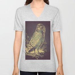 Dark Nordic Owl Unisex V-Neck