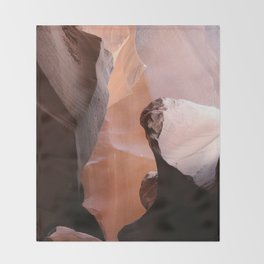 Natures Marvelous Composition - Antelope Canyon Shapes Throw Blanket
