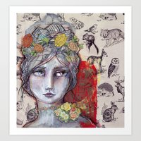 jane davenport Art Prints featuring Nature Study by Jane Davenport by Jane Davenport