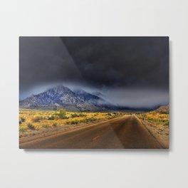 Picture California USA Nature mountain Roads Mountains Metal Print
