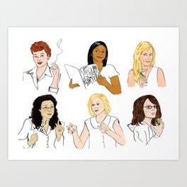 Funny Ladies Art Print