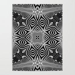 Black & White Tribal Symmetry Poster