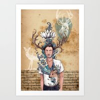 Young Buck Art Print