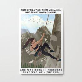 Climbing Metal Print