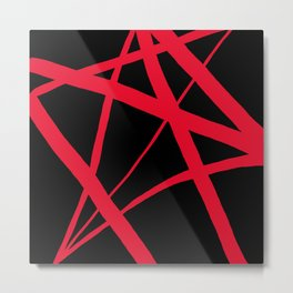 Red Star Magic Metal Print
