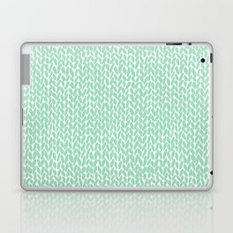 Hand Knit Mint Laptop & iPad Skin