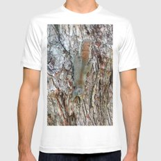 Find The Squirrel MEDIUM White Mens Fitted Tee
