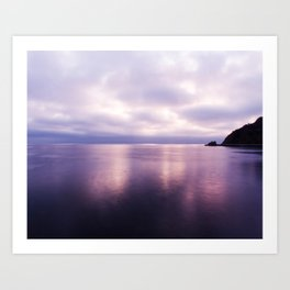 Sunset near Catalina Island in Shades of Purple Art Print