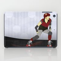 roller derby iPad Cases featuring Roller Derby by Aquamarine Studio