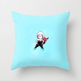 Spider-Gwen and Spider-Ham Throw Pillow