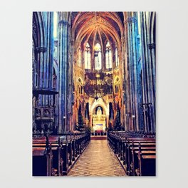 Vienna church watercolor Canvas Print