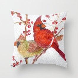 Cardinals Throw Pillow