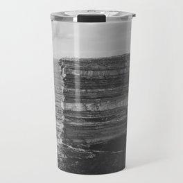 Dun Briste II Black and White Travel Mug