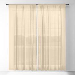 Navajo White Yellow Sheer Curtain