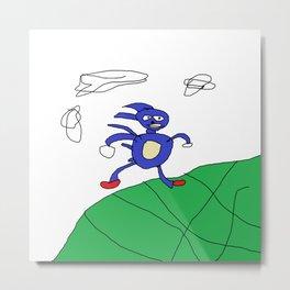 sanic hegehog meme Metal Print