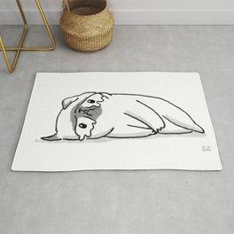 Sad Mochi the pug Rug