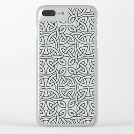 Viking Pattern | Warrior Valknut Norse Mythology Clear iPhone Case