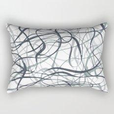 curvy gray & black Rectangular Pillow