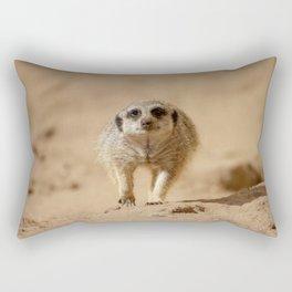 Little cheeky meerkat Rectangular Pillow