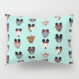 pitbull mouse ears theme park vacation dog gifts Pillow Sham
