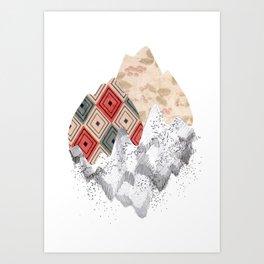 montañas collage Art Print
